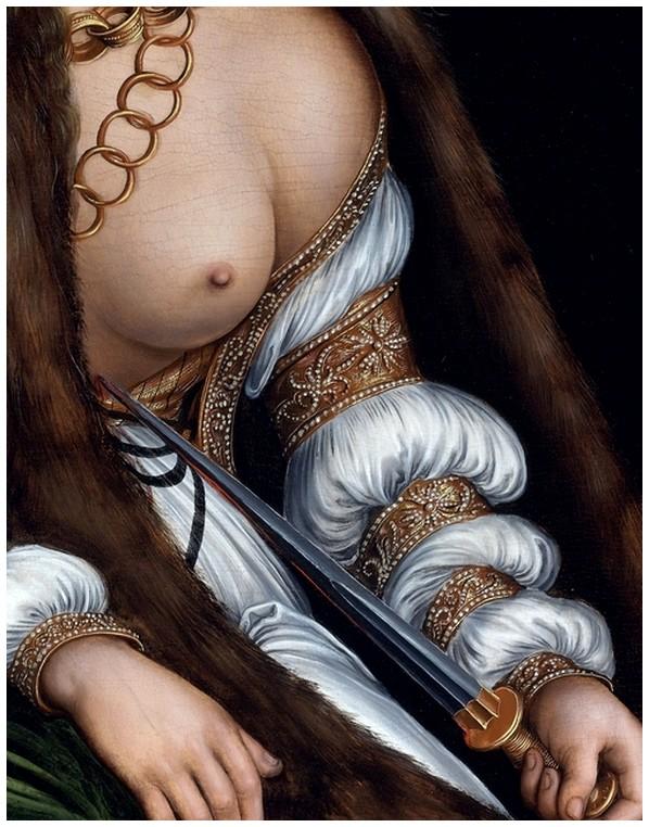Lucas cranach the elder lucretia s suicide detail 1509