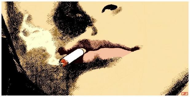 Terra ignota il alluma une cigarette